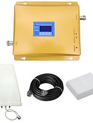 gsm 900mhz 2g dcs 1800mhz 4g lte sinal reforço repetidor de sinal de telefone celular com registro antena periódica / painel antena / lcd