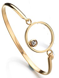 cheap -Men's / Women's Bracelet Bangles - Stainless Steel Basic Bracelet Gold / Silver For Wedding / Party