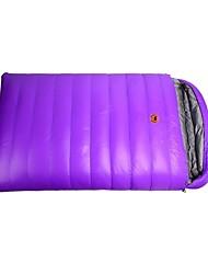 Недорогие -Спальный мешок на открытом воздухе Двойная ширина Прямоугольный 20 °C Двуспальный комплект (Ш 200 x Д 200 см) Утиный пух С защитой от ветра Сохраняет тепло Быстровысыхающий Осень Зима для