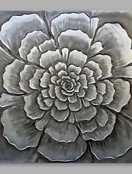 baratos -Pintura a Óleo Pintados à mão - Floral / Botânico Modern Tela de pintura