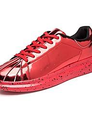 preiswerte -Unisex Schuhe Künstliche Mikrofaser Polyurethan Frühling Herbst Leuchtende Sohlen Sneakers Paillette für Normal Schwarz Silber Rot