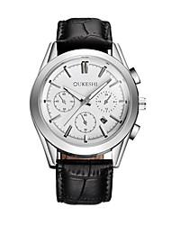 Недорогие -Муж. Наручные часы Модные часы Китайский Кварцевый Календарь Кожа Группа На каждый день Черный Коричневый