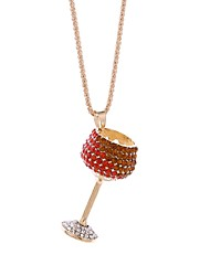 cheap -Women's Rhinestone Pendant Necklace Chain Necklace - Fashion European Goblet Geometric Necklace For Birthday Gift
