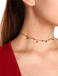 Недорогие -Жен. Свисающие форма Простой Милая Ожерелья-бархатки Кулоны Кристалл Медь Ожерелья-бархатки Кулоны Для вечеринок Повседневные Бижутерия