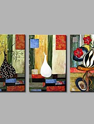 Hånd-malede Abstrakt Klassisk Kanvas Hang-Painted Oliemaleri Hjem Dekoration Tre Paneler