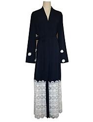 Недорогие -Мода Платья Платье Кафтан Жен. Фестиваль / праздник Костюмы на Хэллоуин Синий Цветы