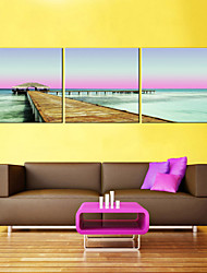 cheap -Canvas Print Rustic Modern,Three Panels Canvas Square Print Wall Decor For Home Decoration