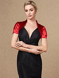 cheap -Short Sleeves Satin Wedding Party / Evening Women's Wrap Shrugs