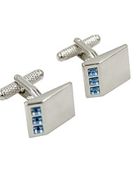 cheap -Geometric Silver Cufflinks Copper Fashion Men's Costume Jewelry For Party / Gift