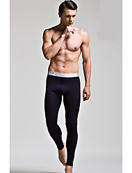 cheap -Men's Polyester Long Johns Solid Colored Modern Style Low Waist