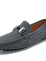 preiswerte -Herrn Schuhe Kunstleder Frühling Sommer Komfort Loafers & Slip-Ons für Normal Schwarz Grau Blau