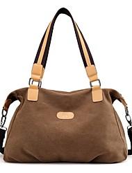 cheap -Women Bags Canvas Shoulder Bag Zipper for Casual Outdoor Winter Fall Coffee Purple Gray Blue