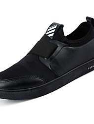 Herrer Sko PU Forår Efterår Komfort Sneakers for Afslappet Sort Grå