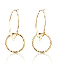 cheap -Women's Drop Earrings Hoop Earrings Simple Casual Fashion Silver Plated Gold Plated Alloy Circle Geometric Jewelry Daily Work