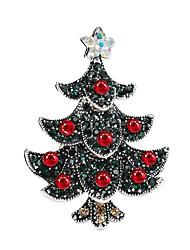 baratos -Mulheres Broches Zircônia cúbica Clássico Boêmio Doce Zircão Liga Árvore da Vida Vermelho Jóias Para Natal Festival