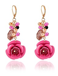 cheap -Women's Drop Earrings Rhinestone Acrylic Classic Fashion Crystal Acrylic Alloy Flower Jewelry Daily