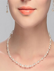 abordables -Femme Forme de Cercle simple Collier court /Ras-du-cou Cristal Imitation de perle Collier court /Ras-du-cou , Mariage Soirée