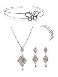 abordables -Femme Strass Imitation Diamant Papillon Ensemble de bijoux Bijoux de Corps / 1 Collier / 1 Bague - Mode / Européen Forme Géométrique Blanc