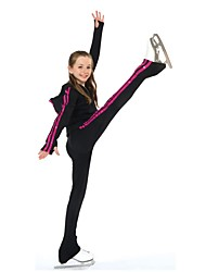 cheap -Over The Boot Figure Skating Tights Women's Girls' Ice Skating Pants / Trousers Tracksuit Top Black Spandex Inelastic Performance Practise