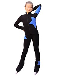 cheap -Over The Boot Figure Skating Tights Women's Girls' Ice Skating Pants / Trousers Tracksuit Top Blue Spandex Inelastic Performance Practise