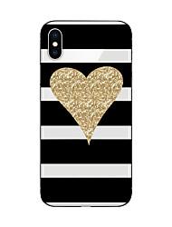 economico -Custodia Per Apple iPhone X iPhone 8 Fantasia/disegno Custodia posteriore Con onde Con cuori Glitterato Morbido TPU per iPhone X iPhone 8