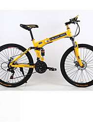cheap -Mountain Bike / Folding Bike Cycling 21 Speed 26 Inch/700CC Unisex / Men's / Women's Double Disc Brake Springer ForkMonocoque / Hard-tail