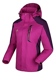 cheap -Women's Hiking 3-in-1 Jackets Outdoor Winter Windproof Winter Jacket 3-in-1 Jacket Full Length Visible Zipper Camping / Hiking Ski /
