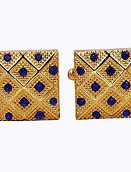 baratos -Dourado Botões de Punho Retangular Roupas de Festa / Fashion Homens Jóias de fantasia Para Diário / Formal
