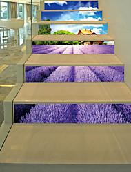 abordables -Romance Floral Stickers muraux Autocollants muraux 3D Autocollants muraux décoratifs, Vinyle Décoration d'intérieur Calque Mural Mur