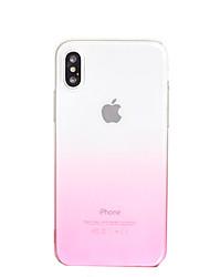 economico -Per iPhone X iPhone 8 iPhone 8 Plus iPhone 6 iPhone 6 Plus Custodie cover Transparente Custodia posteriore Custodia Colore graduale e