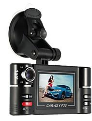 Недорогие -carway f30 автомобиль dvr 2.7 tft lcd hd 1080p повернутый двойной объектив тире камера автомобиль цифровой видеомагнитофон видеокамера ночное видение