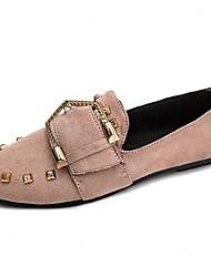 Недорогие -Жен. Обувь Резина Весна / Осень Удобная обувь На плокой подошве На плоской подошве Круглый носок Черный / Хаки