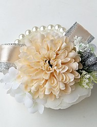 economico -Bouquet sposa Braccialetto floreale Matrimonio Da sera Poliestere 8 cm ca. 10 cm ca.