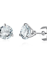 economico -Per donna Orecchini a bottone Diamante sintetico Semplice Di tendenza Elegant Rame Vetro Di forma geometrica Gioielli Matrimonio Feste