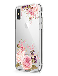 billige -Til iPhone X iPhone 8 Etuier Ultratyndt Transparent Mønster Bagcover Etui Blomst Blødt TPU for Apple iPhone X iPhone 8 Plus iPhone 8