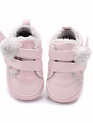 Baby Shoes Cotton Winter Fall First Walkers Flats for Casual White