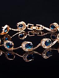 Недорогие -Жен. Браслет Синтетический алмаз Стразы Бижутерия Свадьба Для вечеринок Бижутерия