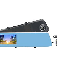 ZIQIAO JL-907T 4.3inch HD 1080p Dual Cameras Car DVR & Rearview Mirror Car DVR Parking Monitor with 170 Degrees Wide Angle Mic Loop Record