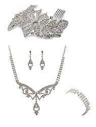 cheap -Women's Rhinestone Imitation Diamond Jewelry Set Body Jewelry 1 Necklace 1 Ring Earrings - Fashion European Hair Combs Bridal Jewelry Sets