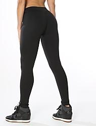 abordables -Mujer Pantalones ajustados de running Eslático Pantalones/Sobrepantalón Jogging Yoga Poliéster Licra Apretado Negro Gris oscuro Gris S M