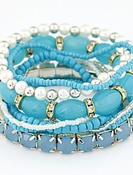 Kadın's Strand Bilezikler Bileklik Vintage Bohem Moda Reçine alaşım Circle Shape Geometric Shape Mücevher Uyumluluk Parti