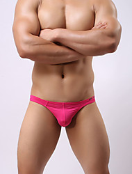 cheap -Men's Stretchy Solid Briefs Underwear Thin,Nylon Spandex 1pc Light Blue Fuchsia Black