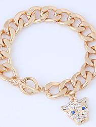 cheap -Women's Chain Bracelet Rhinestone Fashion European Alloy Leopard Jewelry Daily