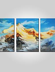 abordables -Impression sur Toile Contemporain,Trois Panneaux Toile Format Horizontal Imprimé Décoration murale Décoration d'intérieur