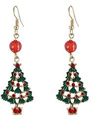 baratos -Mulheres Adorável 2pçs Brincos Compridos - Elegant / Europeu Arco-íris árvore de Natal Brincos Para Natal / Carnaval