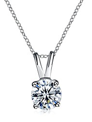 cheap -Women's Geometric Vintage Casual Sweet Lovely Pendant Necklace Cubic Zirconia Copper Pendant Necklace , Wedding Gift