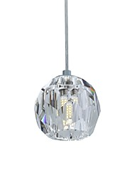 cheap -UMEI™ Pendant Light Ambient Light - Crystal, Modern / Contemporary, 110-120V 220-240V, Warm White White, Bulb Included