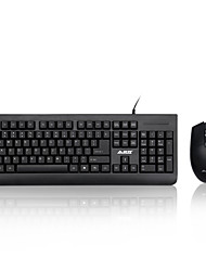 cheap -AJAAZZ-X1180 Cable Keyboard Mouse Suit Desktop PC Game Office Keymouse Waterproof Kit