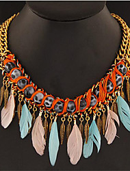 cheap -Women's Pendant Necklace - Vintage Feather Necklace For Gift Daily