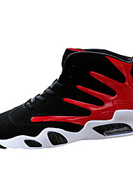 cheap -Basketball Shoes Men's Athletic Shoes Spring Fall Comfort PU Athletic Casual Flat Heel Lace-up Black/Blue Black/Red Black/White